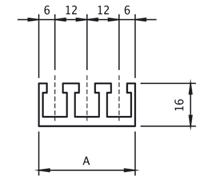 GUIDE PORTACAMME | passo 12mm
